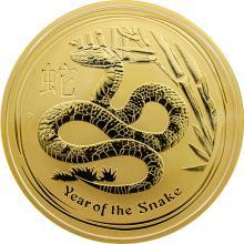 Zlatá investiční mince Year of the Snake Rok Hada Lunární 10 Oz 2013