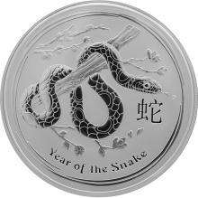 Stříbrná investiční mince Year of the Snake Rok Hada Lunární 2 Oz 2013