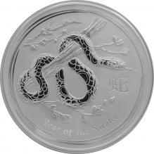 Stříbrná investiční mince Year of the Snake Rok Hada Lunární 5 Oz 2013