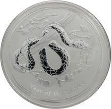 Strieborná investičná minca Year of the Snake Rok Hada Lunárny 10 Oz 2013