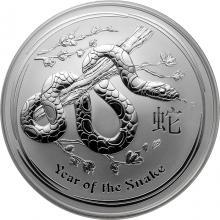 Stříbrná investiční mince Year of the Snake Rok Hada Lunární 10 Oz 2013