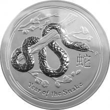 Stříbrná investiční mince Year of the Snake Rok Hada Lunární 1 Kg 2013