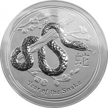 Stříbrná investiční mince Year of the Snake Rok Hada Lunární 10 Kg 2013