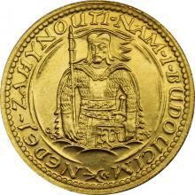 Zlatá mince Svatý Václav Dvoudukát Československý 1932