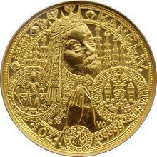 Zlatá minca 10000 Kč KAREL IV. Nové Mesto Pražské 1998 Štandard