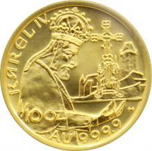Zlatá minca 1000 Kč KAREL IV. Založenie Karlštejna 1998 Štandard
