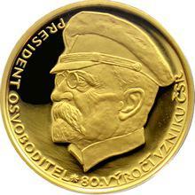 Zlatá medaile T. G. Masaryk 80. výročí vzniku ČSR 1998 Proof