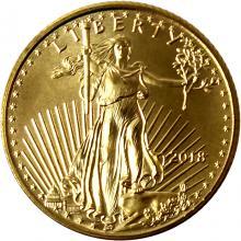 Zlatá investičná minca American Eagle 1/10 Oz