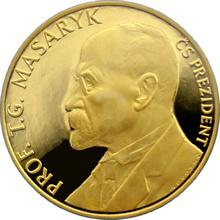 Zlatá uncová medaile Prof. T. G. Masaryk ČS. Prezident 2008 Proof