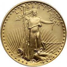 Exkluzivní zlatá investiční mince 1/4 Oz American Eagle 1986