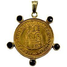 Zlatá mince Svatý Václav Jednodukát Československý 1933 Zlatý přívěsek
