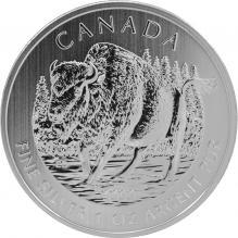 Stříbrná investiční mince Bizon lesní Canadian Wildlife 1 Oz 2013