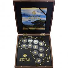 African Pride Sada zlatých mincí 2017 Miniatury Proof