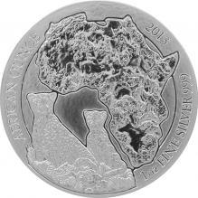 Strieborná investičná minca Gepard Rwanda 1 Oz 2013