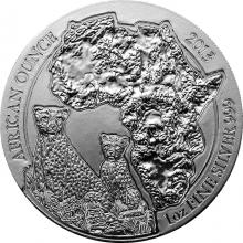 Stříbrná investiční mince Gepard Rwanda 1 Oz 2013