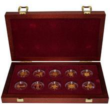 Sada Deset století architektury 10 zlatých mincí 2001 - 2005 Proof