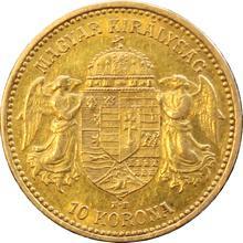 Zlatá mince Desetikoruna Františka Josefa I. Uherská ražba 1896