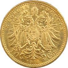 Zlatá mince Desetikoruna Františka Josefa I. Rakouská ražba 1910