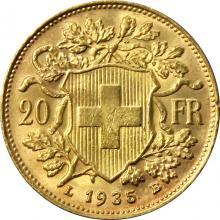 Zlatá mince 20 Frank Helvetia Vreneli