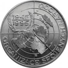 Stříbrná mince 200 Kč Založení OSN 50. výročí 1995 Standard