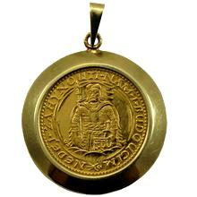 Zlatá mince Svatý Václav Jednodukát Československý 1931 Zlatý přívěsek
