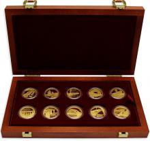 Sada 10 zlatých mincí Mosty České republiky 2011 - 2015 Proof
