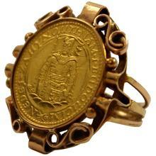 Zlatá mince Svatý Václav Jednodukát Československý 1927 Prsten