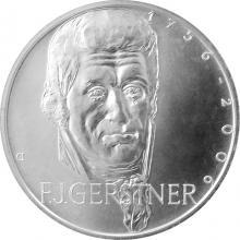 Stříbrná mince 200 Kč František Josef Gerstner 250. výročí narození 2006 Standard