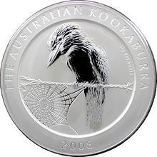 Stříbrná investiční mince Kookaburra Ledňáček 1 Kg 2008