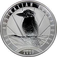 Stříbrná investiční mince Kookaburra Ledňáček 10 Oz 2009
