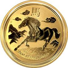 Zlatá investičná minca Year of the Horse Rok Koňa Lunárny 1 Oz 2014