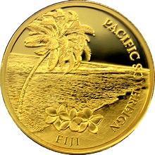 Zlatá investiční mince Fiji Pacific Sovereign 1 Oz