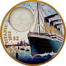 Bronzová kolorovaná mince Titanic - Day 100. výročí 2012 Proof
