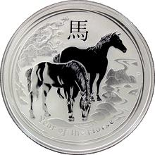 Strieborná investičná minca Year of the Horse Rok Koňa Lunárny 1 Oz 2014