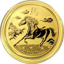 Zlatá investičná minca Year of the Horse Rok Koňa Lunárny 1/2 Oz 2014