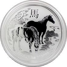 Stříbrná investiční mince Year of the Horse Rok Koně Lunární 2 Oz 2014