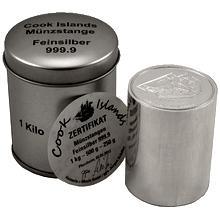 Stříbrná investiční mince Bounty Cook Islands 2012 Cylindr 1 Kg