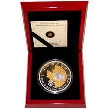 Stříbrná mince pozlacený 5 Oz Maple Leaf 25. výročí 2013 Proof (.9999)