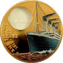 Bronzová kolorovaná mince Titanic 100. výročí 2012 Proof