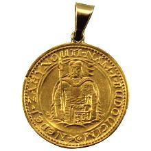 Zlatá mince Svatý Václav Jednodukát Československý 1929 Přívěsek