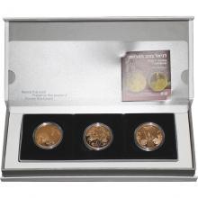 Biblické umění 10 NIS Sada 3 zlatých mincí Izrael 2010 - 2012 Proof