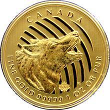 Zlatá investičná minca Howling Wolf 1 Oz 2014 (.99999)