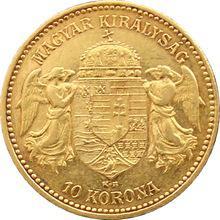 Zlatá mince Desetikoruna Františka Josefa I. Uherská ražba 1900