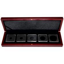Univerzální hnedá krabička pro pět mincí do váhy 1 unce