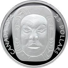 Stříbrná mince maska Matriarch Moon Ultra high relief 2014 Proof (.9999)