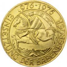Zlatá investiční mince Babenberger 976 - 1976 Münze Österreich