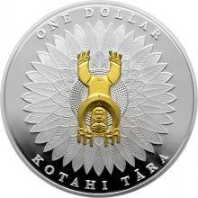 Stříbrná mince pozlacená Papatuanuku a Ranginui Maori Art 1 Oz 2014 Proof