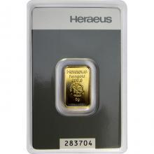 5g Heraeus Nemecko Investičná zlatá tehlička