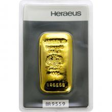 100g Heraeus Německo Investiční zlatý slitek Litý
