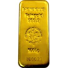 1000g Heraeus Nemecko Investičná zlatá tehlička